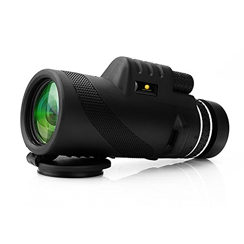 10X42 HD Clear Dual Focus Monocular Telescope, Compact BAK4 Multi-coated Zoom Optical Lens Monocular Scope With Tripod Support, Low Night Vision Ideal for Hunting Camping Hiking, Sporting Events
