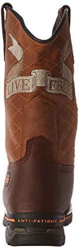 Timberland Pro Mens Independence Square Soft-Toe Unlined Industrial and Construction Boot Brown Full Grain Leather
