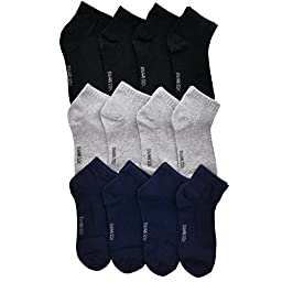 Angelina Dozen-Pack COTTON Low Cut Socks, #2305_GNB_0-12
