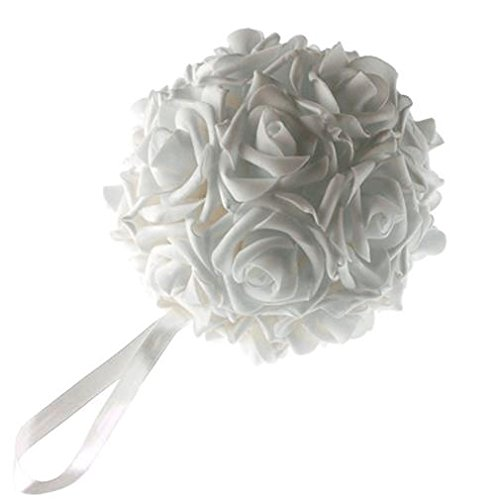 Homeford FNS008562WHT Soft Touch Foam Kissing Ball Wedding Centerpiece, 6