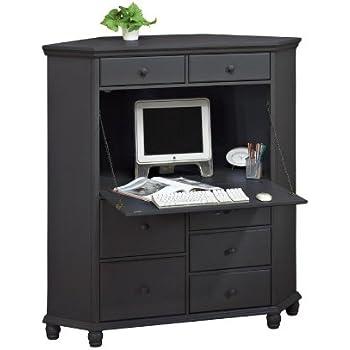 Merveilleux Harwick Corner Computer Armoire, Black