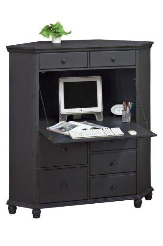 Charmant Harwick Corner Computer Armoire, Black