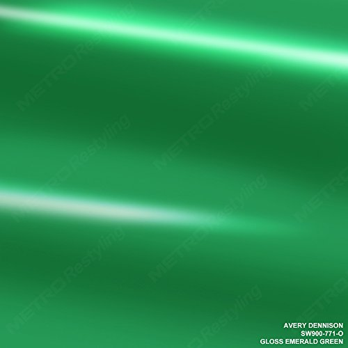 2 Emerald Gloss - Avery SW900-771-O GLOSS EMERALD GREEN 5ft x 2ft (10 Sq/ft) Supreme Vinyl Car Wrap Film