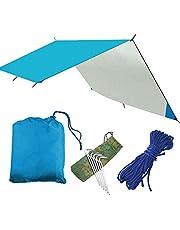 SZSMD Camping tentzeil, tarp voor hangmat, waterdicht, licht, compact tentonderlegger, picknickdeken, tarp hammock zeil tentzeil camping outdoor zeil