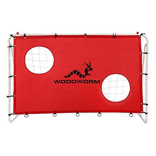 - Woodworm Metal Soccer Goal - 6ft x 4ft Soccer Goal Target Nets