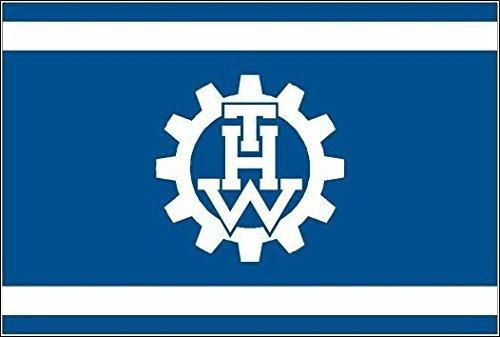 U24 Motorradflagge THW Technisches Hilfswerk Fahne Flagge 20 x 30 cm