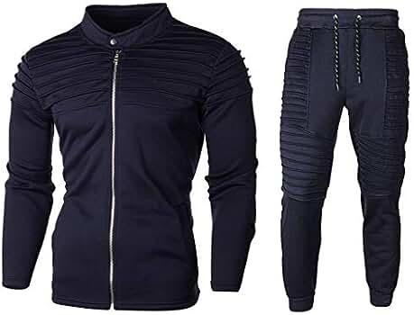 Tefamore Chándal para Hombre Sudadera Conjunto de Pantalones de ...