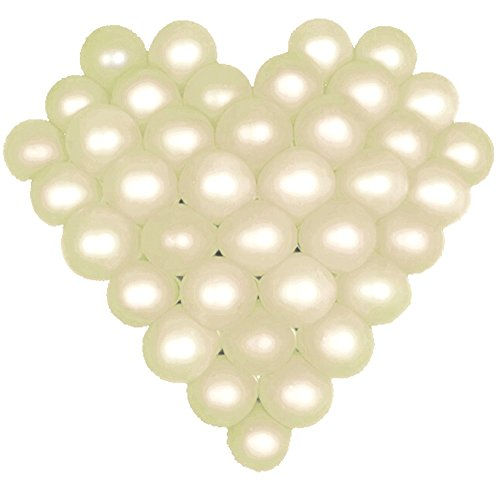 Balloon 1 Net (Elecrainbow 5 Inch White Balloons, Round Pearl Balloon for Balloon Arch Modeling, Pack of 100)