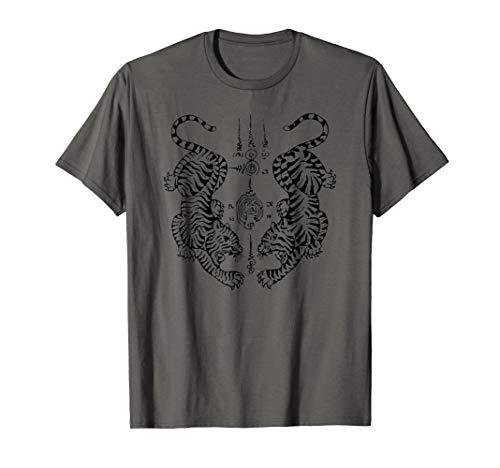 Muay Thai boxing martial arts Sak Yant Tiger Tattoo t-shirt