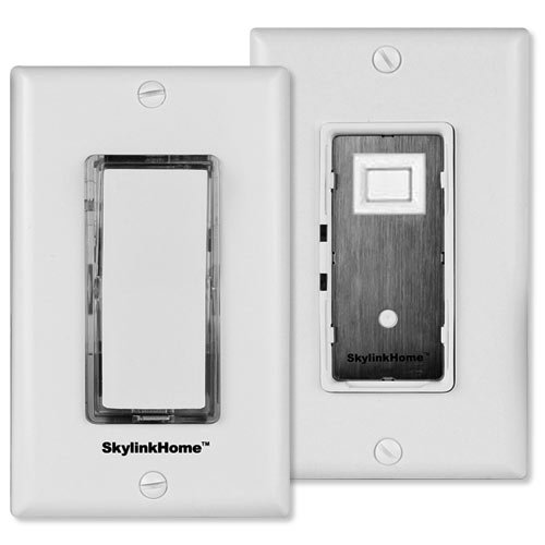 SK-8 Wireless DIY 3-Way On Off Anywhere Lighting Home Control Wall Switch Set - No neutral wire (Wireless Universal Wall Control)