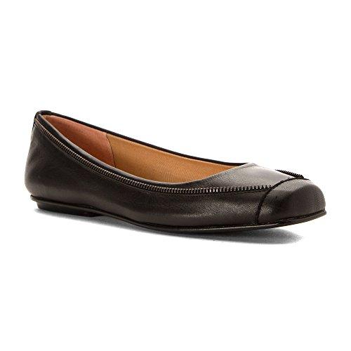 Semelle Française Womens Twiggy Flats Chaussures Noir Doux Veau