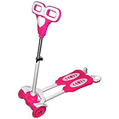 OnlineWelcome Pink Frog Motion Kids Four Wheel Scooter with Lights: Toys & Games
