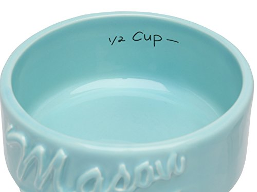 Mason Jar Measuring Cups Set - Set of 4 Ceramic Measuring Cups (1/4, 1/3, 1/2, 1 cup) in Rustic, Antique, Farmhouse Design Perfect for Your Kitchen by Sparrow Decor (Blue) by Sparrow Decor (Image #3)