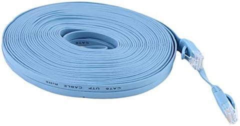 Cable Length: 15M, Color: Blue Computer Cables 10m 15m CAT6 Flat UTP Ethernet Network Cable RJ45 Patch LAN cablefor Internet Network Patch LAN Cable Cord for PC Computer