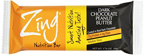 Zing Nutrition Bar-Dark Chocolate Peanut Butter-Box Zing Bars 12 Bars Box (NW £ 1 5,12 oz)