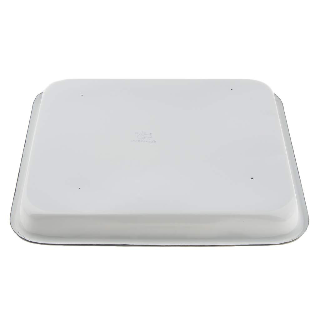 Multipurpose 25x30cm Almencla Enamel Butcher Tray Medical Lab Instrument Disinfection Tray Fruit Tray 4 Sizes Optional