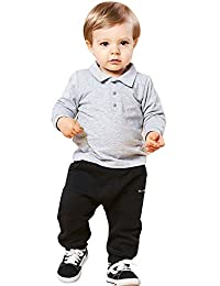 Classic Teddy Baby Boy Long Sleeve Polo Shirt British Style T-Shirt