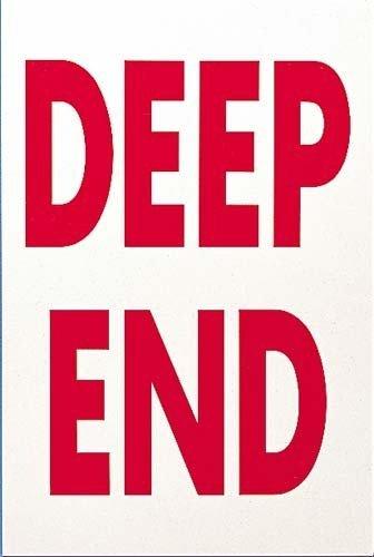 Swimming Pool Prohibition Foamex Sticker & Sign Aqua Swim Warning Deep End Sign by Only Swim por Only Swim