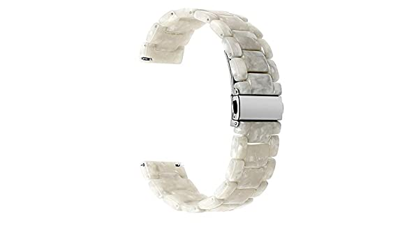 Amazon.com: Jewh Quick Release Resin Watchband for Samsung Gear S3 - Classic Frontier Watch Band - Stainless Steel Buckle Strap - Wrist Bracelet Watch Band ...