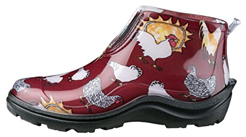 Sloggers 2841CDY06 Women's Waterproof Ankle Boot, Wo's sz 6, Daffodil Yellow Barn Red