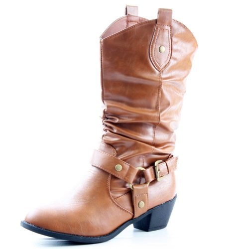 West Blvd Womens Beijing Cowgirl Western Cowboy Boots