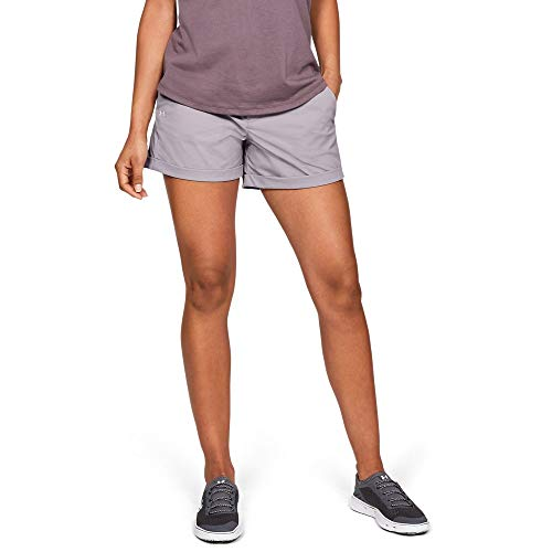 Under Armour Outerwear Women's Tide Chaser 4in Short, Tetra Gray (015)/Gray Flux, 10 (015 Face)