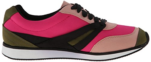 Qupid Womens Pippa Fashion Sneaker Fuchsia Fabric XmB3hKlNb