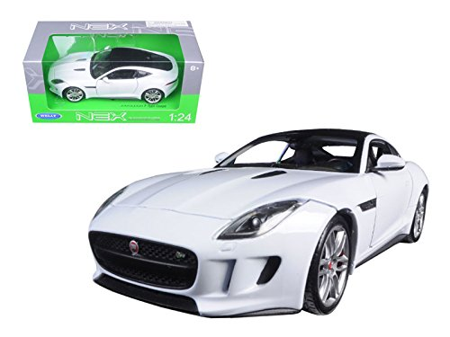 Jaguar E-type Coupe - Welly 2015 Jaguar F-Type Coupe 1/24 Scale Diecast Model Car White