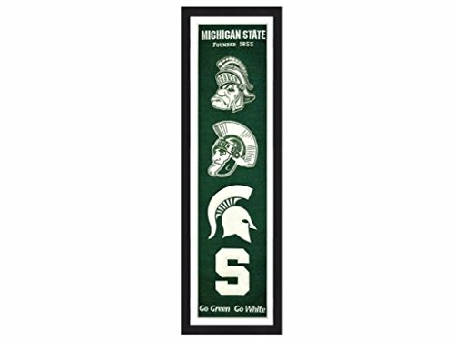 Winning Streak Michigan State Spartans 14x38 Inch Framed Embroidered Heritage - Banner Framed