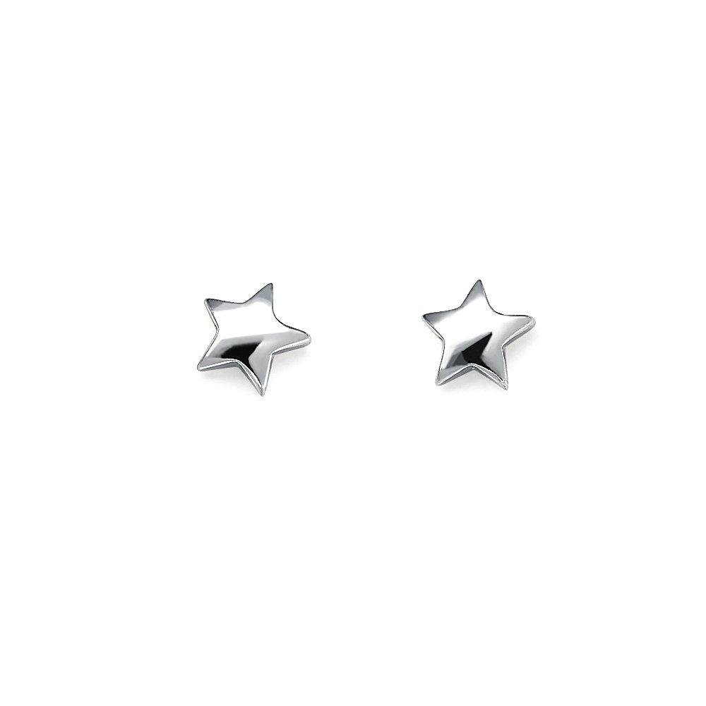 Shining Star Geschickte Herstellung Fein Stern Ohrstecker Ohrringe In Gold Oder Silber