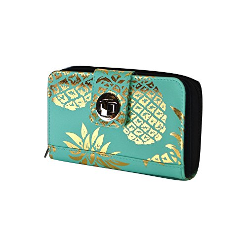 mint NGIL Quilted Wallet Lock Pineapple Southern Twist Gold x06Pxw8q