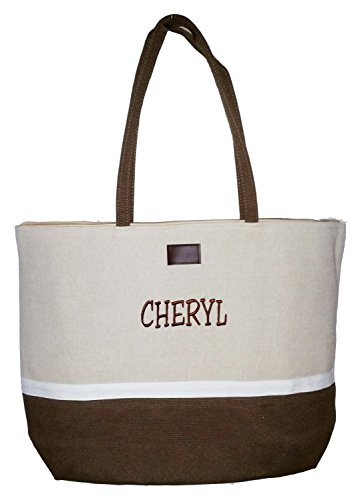 Color Block Zippered Tote Beach