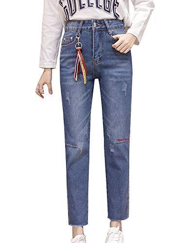 Zalock - Jeans - Femme Bleu Fonc