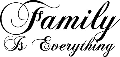 "36"" Family Is Everything Wall Decal Decor Words Large Sticker Kitchen Home"