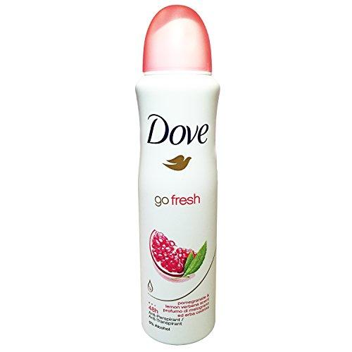 Dove Go Fresh Pomegranate & Lemon Verbena Antiperspirant Spray Deodorant For Women 150 ml ( Pack of 10 (Verbena Deodorant)