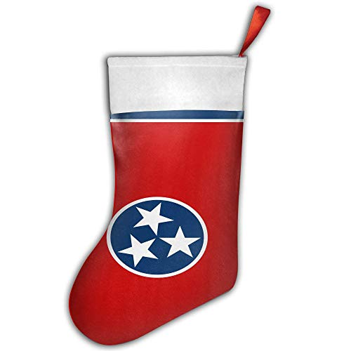 ONE SUIT Christmas Stocking Flag of Tennessee Xmas Tree Decorations Santa Socks Snowman Ornaments Candy Bag