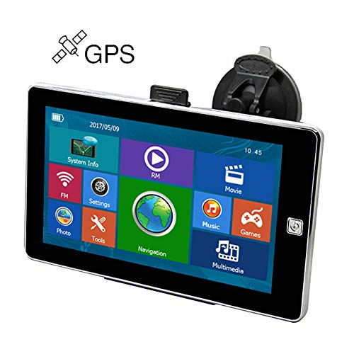 7 inch Car Vehicle GPS Navigation Latest Maps Spoken Turn- to-Turn Sat nav with Multimedia FM Truck Automobile Dash GPS Navigator
