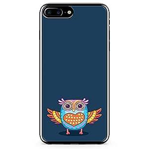 iPhone 7 Plus Transparent Edge Phone Case Owl Phone Case Colorful iPhone 7 Plus Cover with Transparent Frame