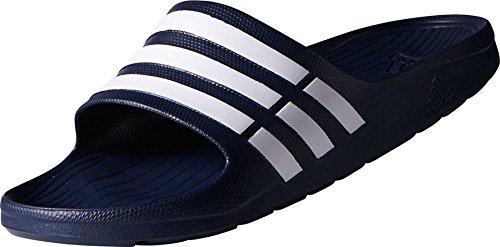 adidas Duramo Slide Unisex adulto Ducha & Zapatillas baño G15892 Azul Oscuro - Blanco