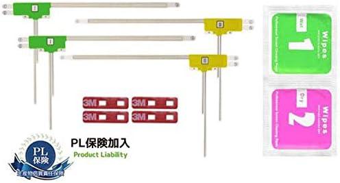 [スポンサー プロダクト]LIMITPOWER 4×4アンテナ L型フィルムアンテナ左右2枚計4枚クリーナー付3M補修用テープ