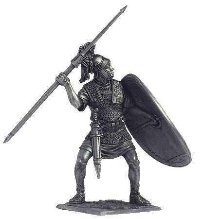 Roman Legionnaire (3-2 century BC) Tin Toy Soldiers Metal Sculpture Miniature Figure Collection 54mm (scale 1/32) (A176)