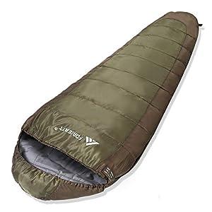 Forceatt Sac de Couchage Momie pour 3 Saisons (été, Printemps, Automne) Temps Chaud et Frais, Sac de Couchage de Camping…