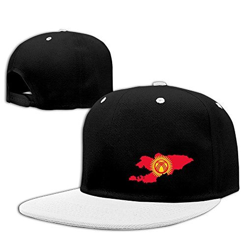 Kyrgyzstan Flag Map Cotton Adult Hip Hop Hat Baseball Hat