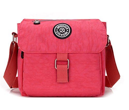 Cross Shoulder Teen Pink Square Bag Flap Lightweight Bag body TianHengYi Casual Messenger Girls Nylon Small WYqBUdT8U