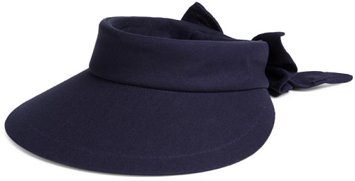 SCALA Women's Visor Hat with Big Brim (Navy)]()