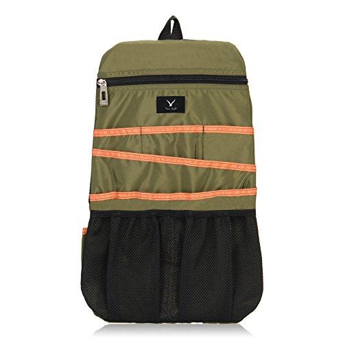 Hynes Eagle Universal Backpack Insert Organizer Travel Bag Slip Gadget Organization Kit Military Green
