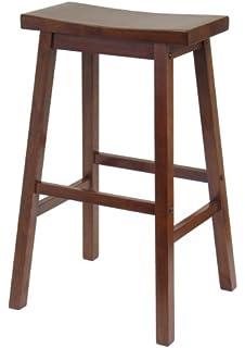 Superior Winsome Wood 29 Inch Saddle Seat Stool, Walnut