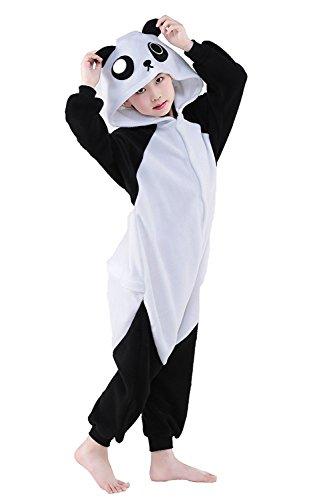 [Cute Kigurumi Animal Kid Panda Onesie Pajamas for Teen Boy & Girl Costume Cosplay Outfit 115#] (Panda Costume For Sale)