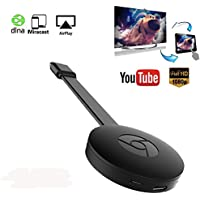 WiFi Wireless Display Dongle Receiver 1080P HDMI TV Stick Miracast Media Streamer for Phone TV Support Miracast & Airplay & DLNA