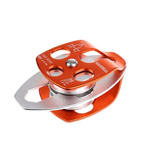 32KN Aluminum Twin Sheave Pulley Climbing Rigging Rescue Gear - Aluminum Sheave